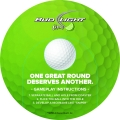Golf pop out game coaster