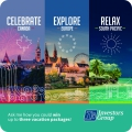 celebrate Canada explore Europe relax South Pacific